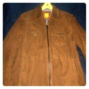 Like new Boss orange Suede zip up jacket 2017
